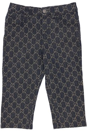 Gucci Girls Jeans - Gg Organic Cotton Denim Jacquard Jeans