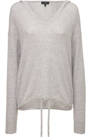 THEORY Women Jumpers - Relaxed Fit Cashmere Knit Hooded Sweater