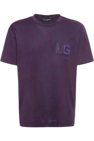 Dolce & Gabbana Logo Embossed Cotton Jersey T-shirt