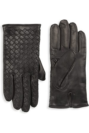Saks Fifth Avenue Men Gloves - COLLECTION Woven Nappa Leather Gloves