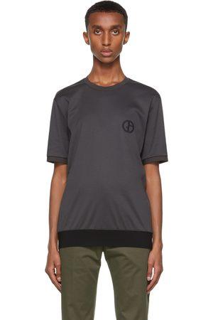 Giorgio Armani Grey Organic Cotton Jersey T-Shirt