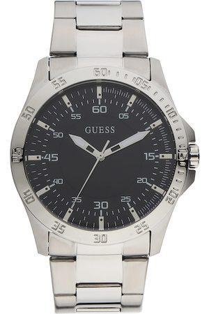 Guess Men Black Dial & Silver Toned Bracelet Style Straps Analogue Watch GW0207G1-Silver