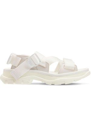 Alexander McQueen 20mm Tread Nylon & Leather Strap Sandals