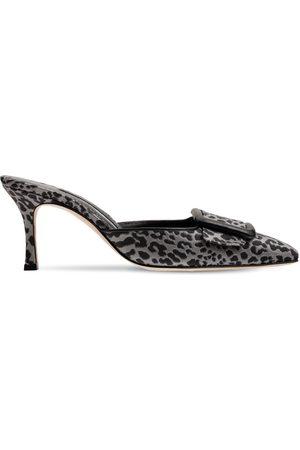 Manolo Blahnik Women Flats - 70mm Maysale Jacquard Mules