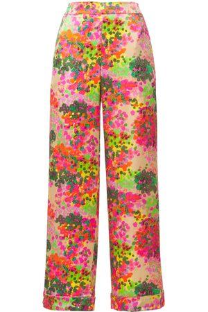 Stella McCartney Women Pyjamas - Ava Cheering Printed Silk Pajama Pants