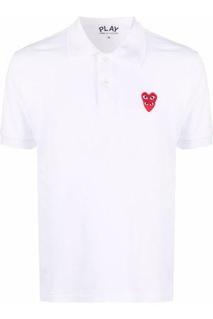 Comme Des Garçons Play Logo-patch cotton polo shirt