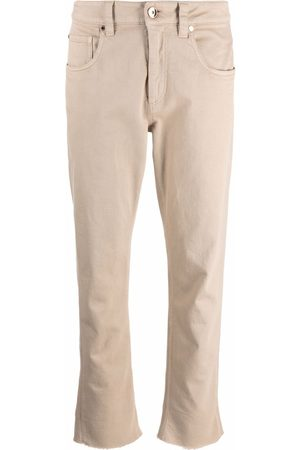 Brunello Cucinelli Women Jeans - Mid-rise cropped jeans