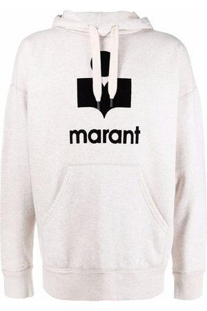 Isabel Marant Men Hoodies - Miley flocked-logo hoodie
