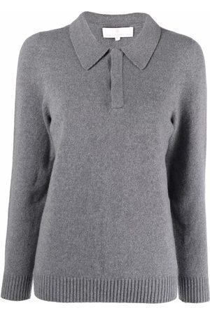 AMI AMALIA Women Polo Shirts - Slim-fit knit polo jumper