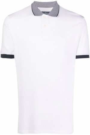 Hackett Men Polo Shirts - Striped collar polo shirt