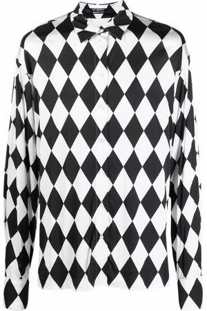 Karl Lagerfeld X Kenneth Ize Diamond step-hem shirt