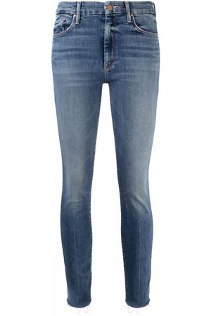 Mother Slim-fit raw-cut jeans
