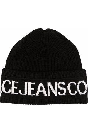 Versace Jeans Couture Intarsia-knit wool-blend beanie