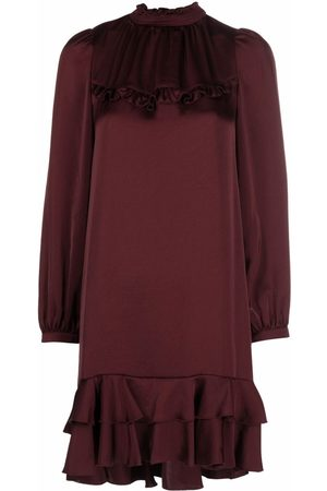 See by Chloé Women Party Dresses - Long-sleeved ruffle-trim dress