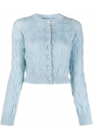 Paco rabanne Cable-knit long-sleeve cardigan