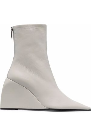 OFF-WHITE Women Heeled Boots - NAPPA DOLL WEDGE BOOTIE NO COLOR