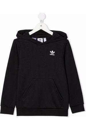 adidas Logo-embroidered cotton hoodie