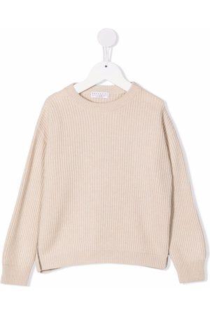 Brunello Cucinelli Kids Ribbed knit cashmere jumper