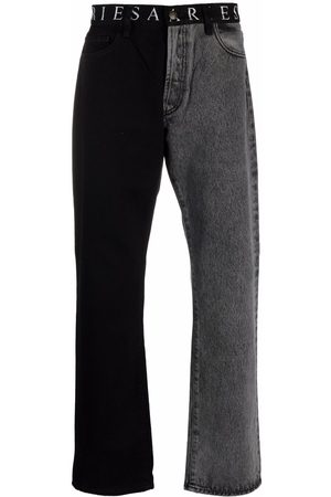 ARIES Two-tone straight leg jeans