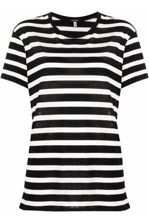 R13 Striped cashmere-cotton T-shirt