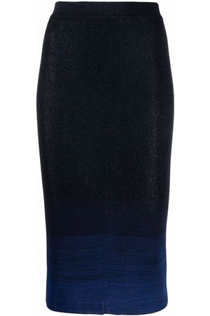 Missoni Gradient-effect knitted pencil skirt