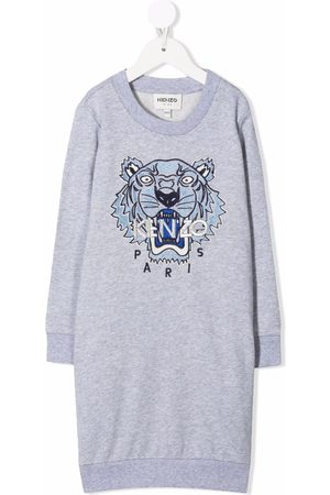 Kenzo Tiger-embroidered sweater dress