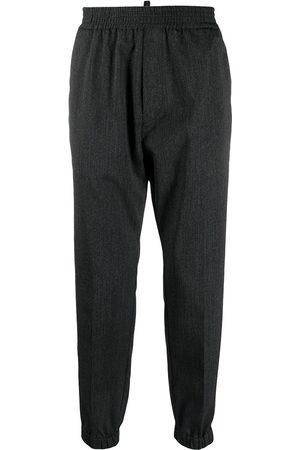 Dsquared2 Elasticated-waist wool tapered trousers