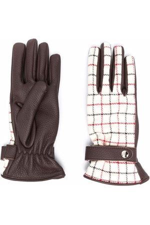 Maison Margiela Tattersall-check panelled gloves