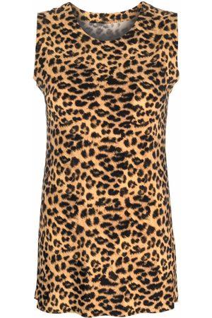 Norma Kamali Leopard-print tank top