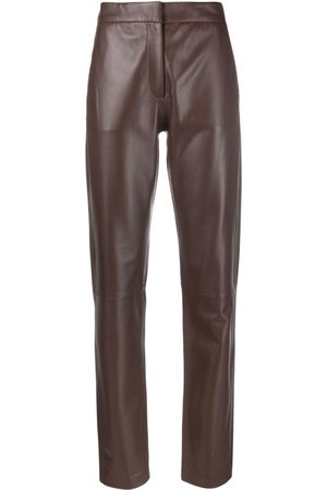 FEDERICA TOSI Women Leather Trousers - Straight-leg leather trousers