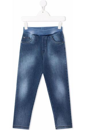 VERSACE Elasticated denim jeans