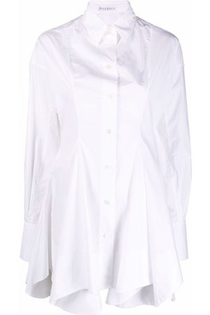 J.W.Anderson Women Long Sleeve - Fitted-waisted flared tunic shirt
