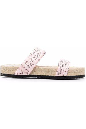 MANEBI Bandana-print sandals
