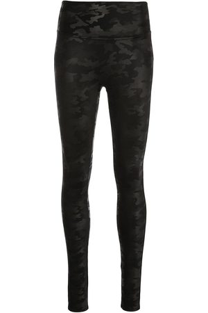 Spanx Women Leather Trousers - Faux leather camouflage-print leggings