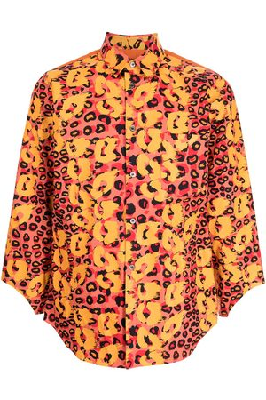 Comme des Garçons X Filip Pagowski print cut-out cuff shirt