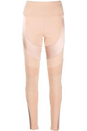 Philipp Plein Women Leggings - Panelled Biker leggings