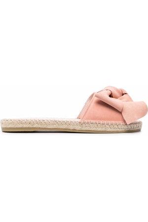 MANEBI Women Platform Sandals - Bow-detail sandals