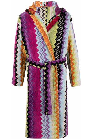 Missoni Giacamo zigzag-woven bath robe