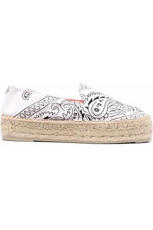 MANEBI Women Casual Shoes - Bandana-print espadrilles