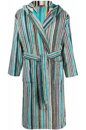 Missoni Jazz striped hooded bathrobe