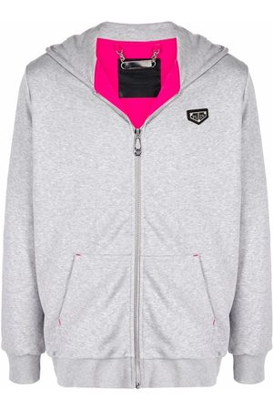 Philipp Plein Logo-patch zip-up hoodie