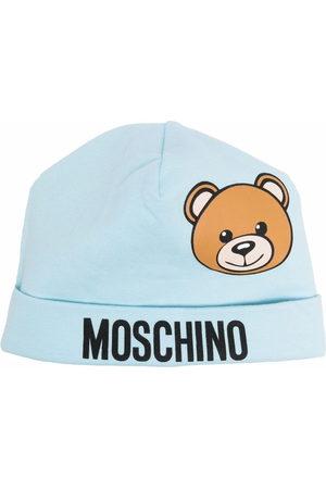Moschino Beanies - Teddy Bear-print cotton beanie