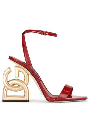 Dolce & Gabbana Women Sandals - Logo heel open-toe sandals