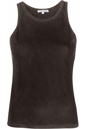 Cotton Citizen Washed-effect cotton vest