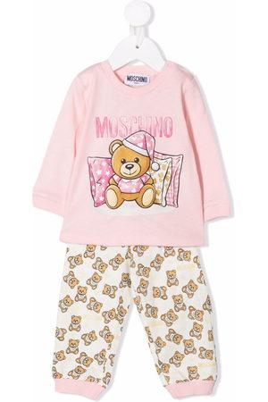 Moschino Teddy bear-print cotton trouser set