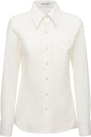 SAINT LAURENT Women Shirts - Classic Cotton & Linen Shirt