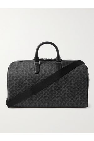 Dunhill Leather-Trimmed Logo-Print Coated-Canvas Holdall