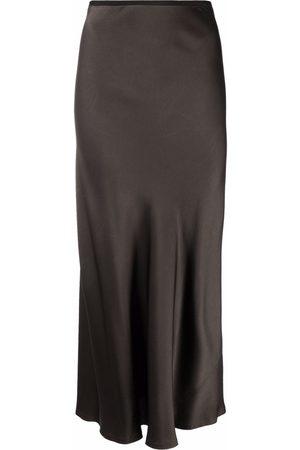 Maison Margiela Draped satin-effect midi skirt