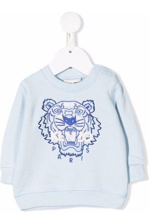Kenzo Kids Tiger-embroidered organic cotton sweatshirt
