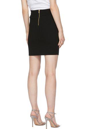 Balmain Double-Buttoned Miniskirt